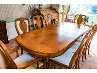 8 Seater Dining Table and 8 Chairs