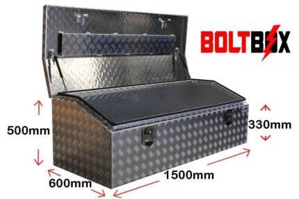 Aluminium Toolbox-Low Profile-L1500 x D600 x H500 - 2.5mm Plate
