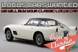 We Want Your Classic Lotus! Sell your classic Lotus for cash today!