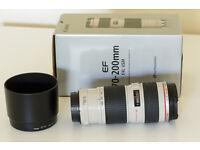 Canon EF 70-200 F/4 L USM Telephoto Zoom Lens