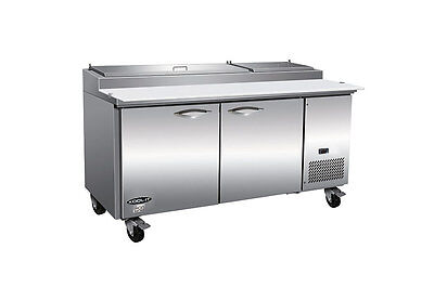 Ikon Ikon Kpp67 71 Pizza Prep Table Refrigerator Cooler Pans Included 2 Door