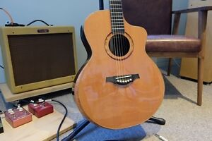 Yulong Guo Double Top steel string guitar Lilyfield Leichhardt Area Preview