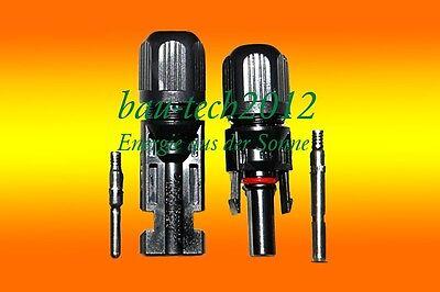 5 Paar MC4 Stecker + Buchse Original Lumberg 4-6mm² für Solar PV Kabel ()
