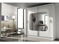 New sliding doors wardrobe,wardrobe with mirror,white wardrobe,szafa,polskie szafy,fast delivery