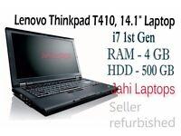 """Lenovo Thinkpad T410, 14.1"""" Laptop, i7 1st Gen, 4Gb Ram, 500Gb HDD Win7- 0580"""