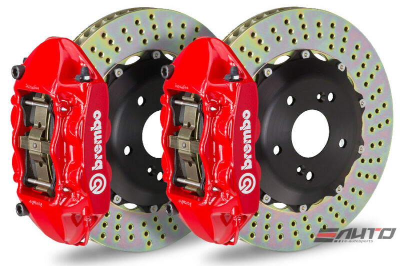 Brembo Rear Gt Big Brake Bbk 4piston Red 328x28 Drill Disc Tt Tts Rs 07-14