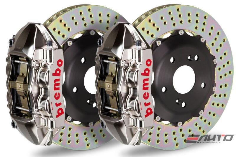 Brembo Rear Gt Brake Bbk 4pot P Caliper Gt-r 345x28 Drill Bmw E90 E92 325 328
