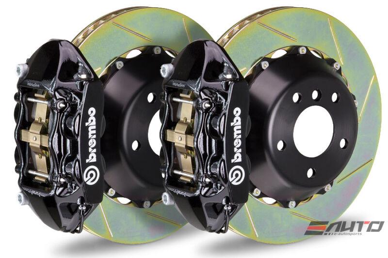 Brembo Rear Gt Big Brake Kit Bbk 4piston Black 345x28 Slot Disc Bmw M 1m E82