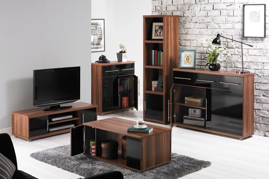 Tv Unit Stand Coffee Table 3 Door Sideboard Living Room Furniture Set