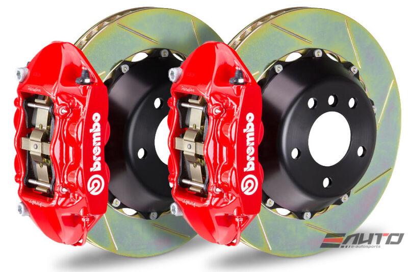 Brembo Rear Gt Brake Bbk 4piston P Caliper Red 345x28 Slot Bmw E65 E66 3/05>