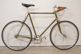 Rare vintage English 1950's Skeats single speed road bicycle.