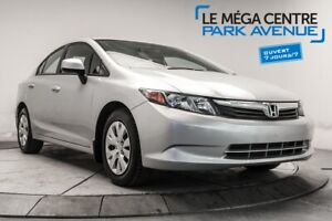 2012 Honda Civic Sdn LX A/C, CRUISE CONTROL, BLUETOOTH
