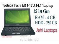 """Toshiba Tecra M11-17U,14.1"""" Laptop, i5 1st Gen, 4GB Ram,250GB HDD Win7 -03128"""