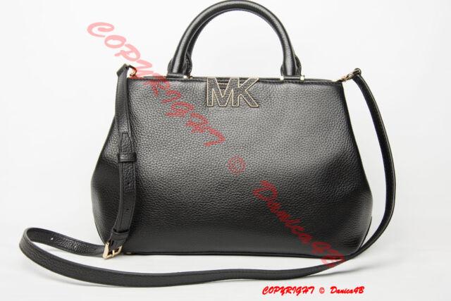 ac08410e1a56c0 best price 358 michael michael kors florence medium pebbled leather satchel  handbag black 4ce14 d39cb