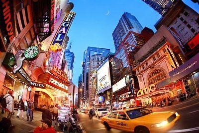 42ND STREET TIMES SQUARE NEW YORK CITY 8x12 SILVER HALIDE PHOTO PRINT 42nd Street Photo