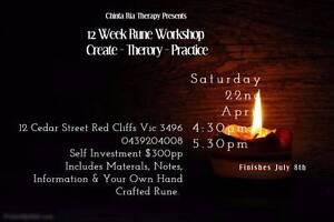12 Week Rune Workshop Create-Theory-Practice Red Cliffs Mildura City Preview