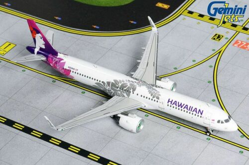 GEMINI JETS (GJHAL1843) HAWAIIAN AIR A321NEO 1:400 SCALE DIECAST METAL MODEL