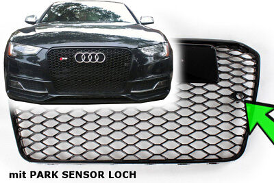 A5 tuning Facelift RS 5 S5 Frontgrill mit Sensor Kühlergrill Wabengrill SCHWARZ