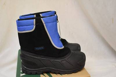 Itasca Nylon Boot (Itasca Youth Boys Size 5 Black/Royal  Waterproof Winter Snow Kids Boots $50 New)