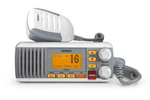 NEW - UM385 - Uniden 25 Watt Fixed Mount Marine Radio with DSC (White)