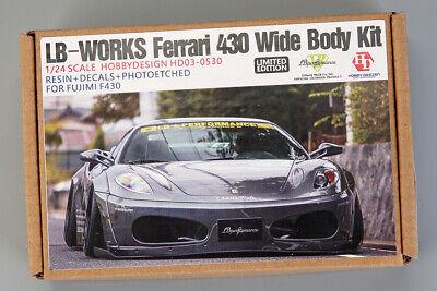 Hobby Design 1/24 LB-Works 430 Wide Body Set for Fujimi kit #F430