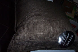 4 BASKETWEAVE CUSHION PADS /COVERS-BROWN-NEW