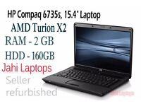 """HP Compaq 6735s, 15.4"""" Laptop, AMD Turion X2, 2GB RAM, 160GB HDD WinVista- 0631"""
