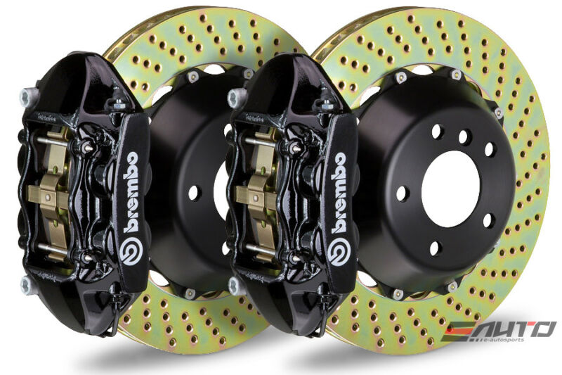 Brembo Front GT Brake 4pot Black 365x29 Drill A3 Beetle GTI Golf R Jetta GLI R32
