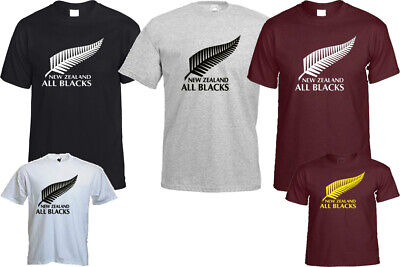 NEW ZEALAND ALL BLACKS T- SHIRT FITNESS BLOGGER HIPSTER CHRISTMAS TOP GIFT