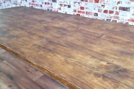 Rustic Farmhouse Reclaimed Pine Kitchen Dining Table - Free Delivery - Multiple Sizes Available