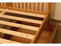 Solid wood 'shaker style' double bed