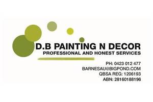 D.B Painting and Decorating Morayfield Caboolture Area Preview