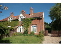 semi detached house, four beds, large garden, set in rural location between Aylsham and N Walsham