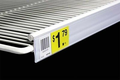 Price Label Upc Tag Holders Double Wire Shelves-coolers-freezer-white-3 34-5pc