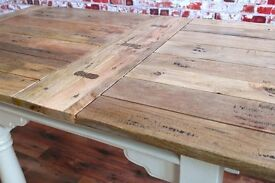 Extendable Rustic Dining Table Farmhouse Country Style Extending 3-6ft Space Saving