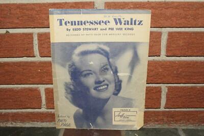 Tennessee Waltz Sheet Music 1948 Acuff-Rose Patti Page