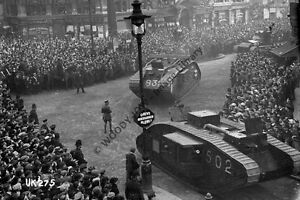 rp13822-Tanks-at-London-WWI-Victory-Parade-photo-6x4
