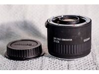 Sigma 2x APO tele converter for Canon DSLR cameras like 5d ii iii iv 7d 6d 1d 1ds 50d 60d 70d 80d