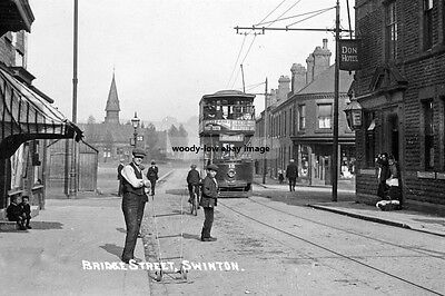 pt0184 - Tram in Bridge Street , Swinton , Yorkshire - photo 6x4