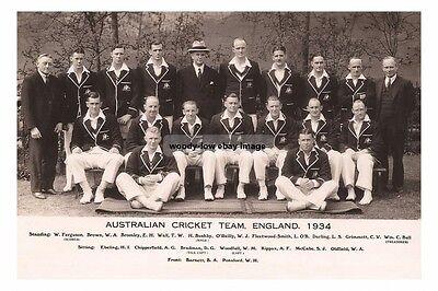 rp16430 - Australian Cricket Team , England , 1934 - photograph