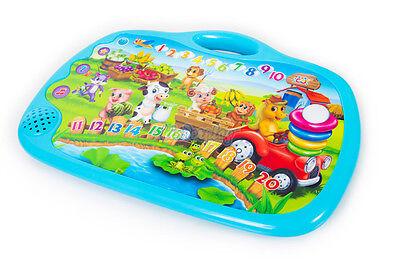 Lernspielzeug Kinder Interaktive Bildungs Lernen NEU FARM English Tablet KP7571