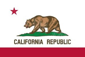 New 3'x5' Polyester CALIFORNIA STATE FLAG CA USA Bear Republic Outdoor Banner