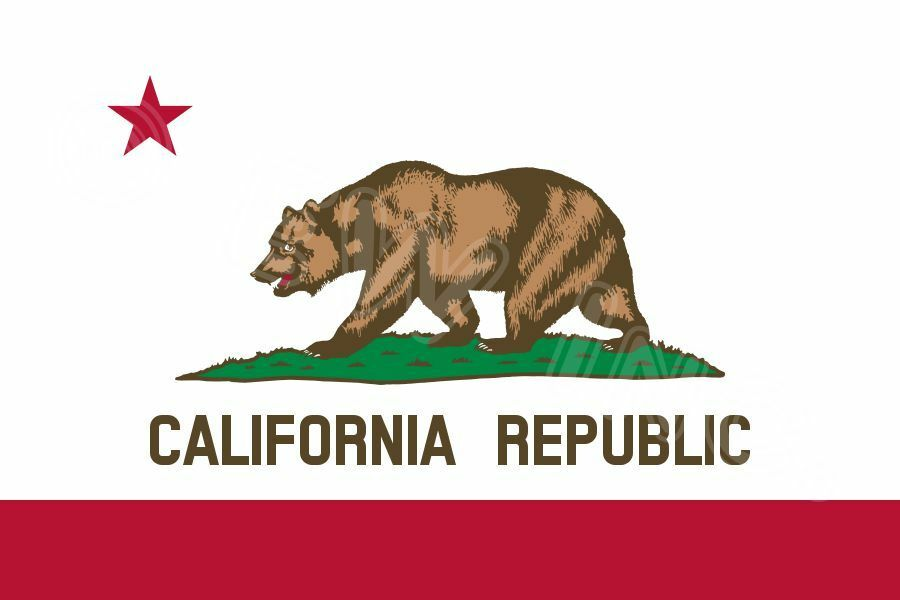 New 3'x5' Polyester CALIFORNIA STATE FLAG CA USA Bear Re