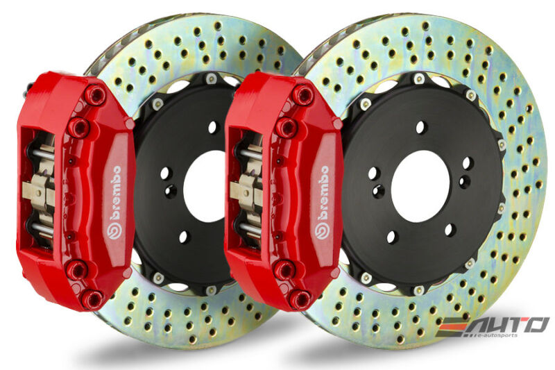Brembo Front Gt Big Brake Bbk 4piston Red 320x28 2 Piece Drill E36 E46 Z3 Z4