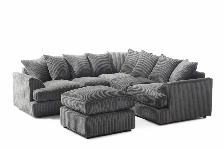 14 Day Money Back Guarantee Jamba Jumbo Premium Fabric Corner Sofa Same Next Delivery