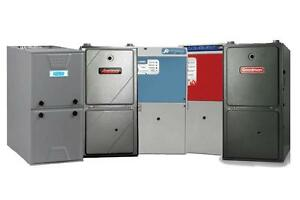 60,000 BTU Gas Furnace installed with 10 Year Warranty - Propane or Natural Gas