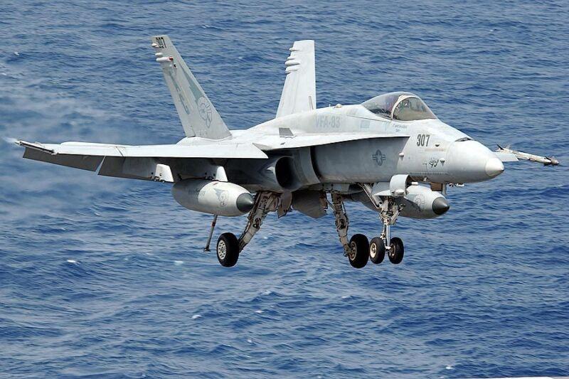 F/A-18C HORNET LANDING 8x12 SILVER HALIDE PHOTO PRINT