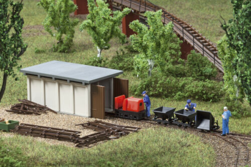 Auhagen 43700 Tt Gauge, Field Train Dummy With Engine Shed # New IN Boxed#