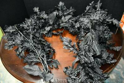 Grandinroad Black Oak Leaves Garland #151950 NEW WIth OUT Tags