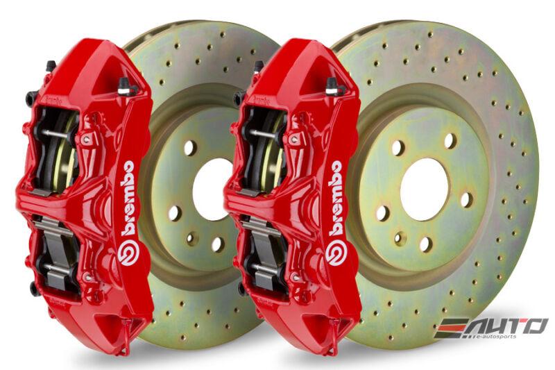 Brembo Front Gt Big Brake Bbk 6piston Red 355x32 Drill Disc Camaro V6 10-14